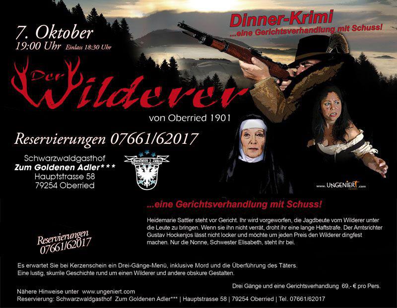 Krimi Dinner Der Wilderer von Oberried 1901