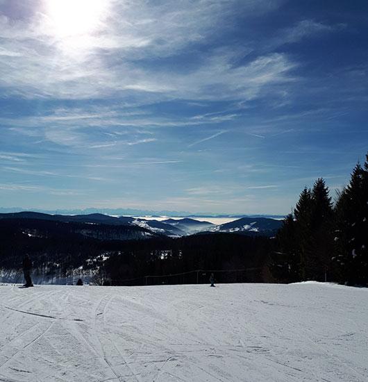 Freizeit Ski Fahren Winter
