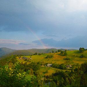 Wandern im Regenbogen Natur pur